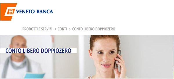 Conto Corrente Libero Doppiozero Veneto Banca