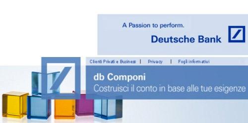 DB Componi: Conto Corrente Deutsche Bank A Costo Zero