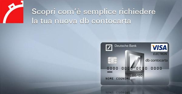 DB Conto Carta: Prepagata Deutsche Bank Ricevere Bonifici Prestitempo