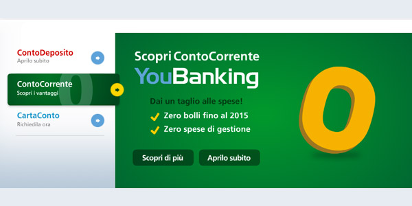 Informazioni Conto Corrente YouBanking Zero Spese?
