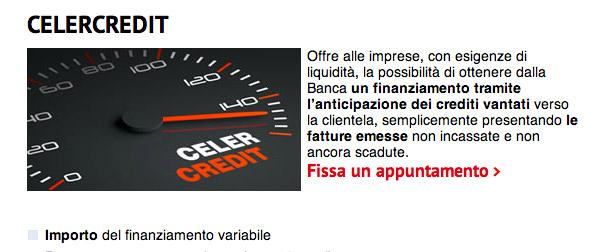Finanziamento Alle Piccole Imprese? CelerCredit UniCredit