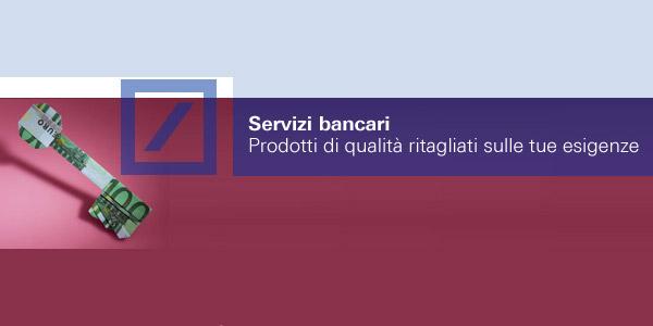 Alcuni Servizi Bancari: Conto corrente, bonifici, carte, assegni, rid