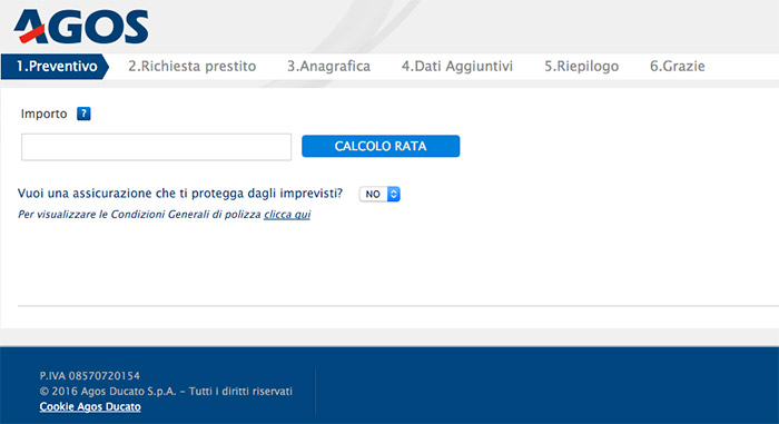 Agos ducato preventivo prestito online finanziamenti for Finanziamenti online